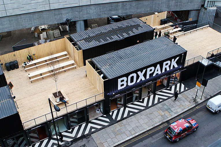 london: boxpark mall opening