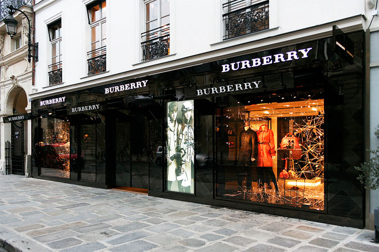 paris: burberry flagship store opening