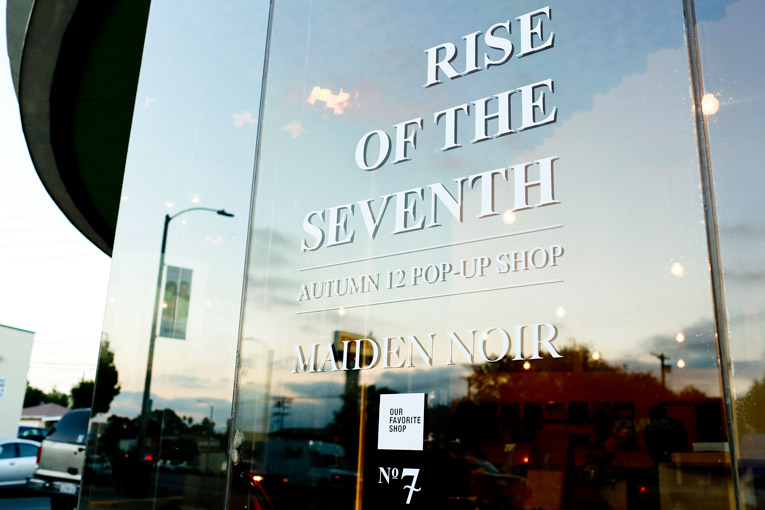 los angeles: maiden noir pop-up store