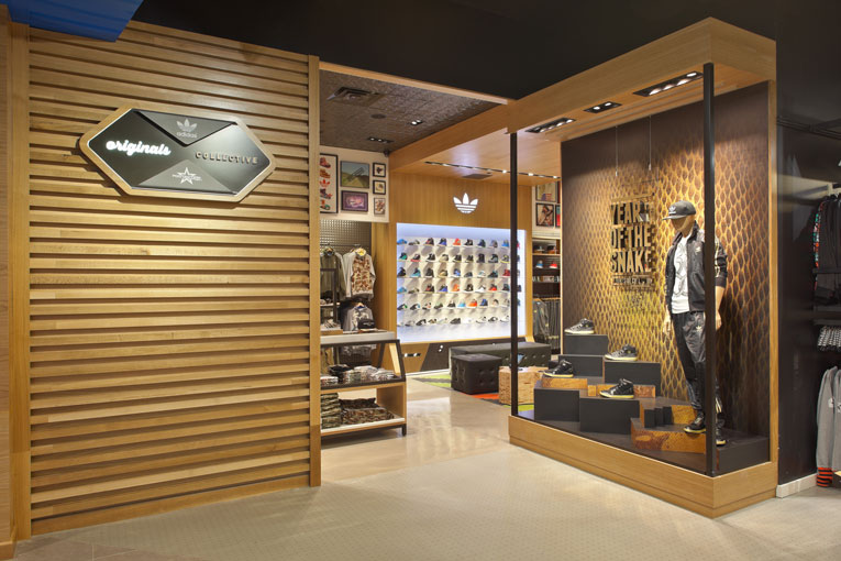 houston: adidas originals collective by footaction shop-in-shop