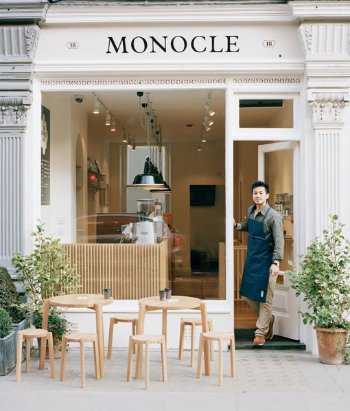 london: the monocle café opening
