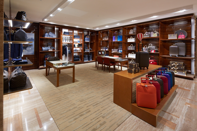 inside louis vuitton store. venice: louis vuitton maison opening inside store