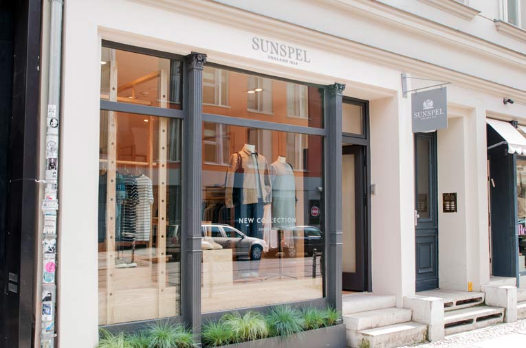 berlin: sunspel store opening