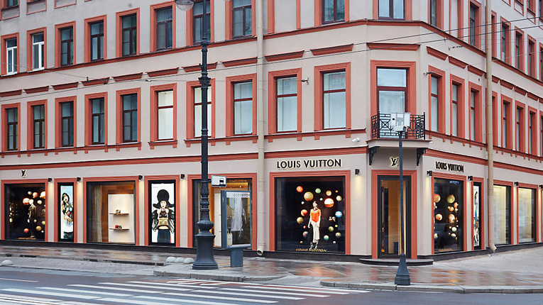 st. petersburg: louis vuitton store relocation