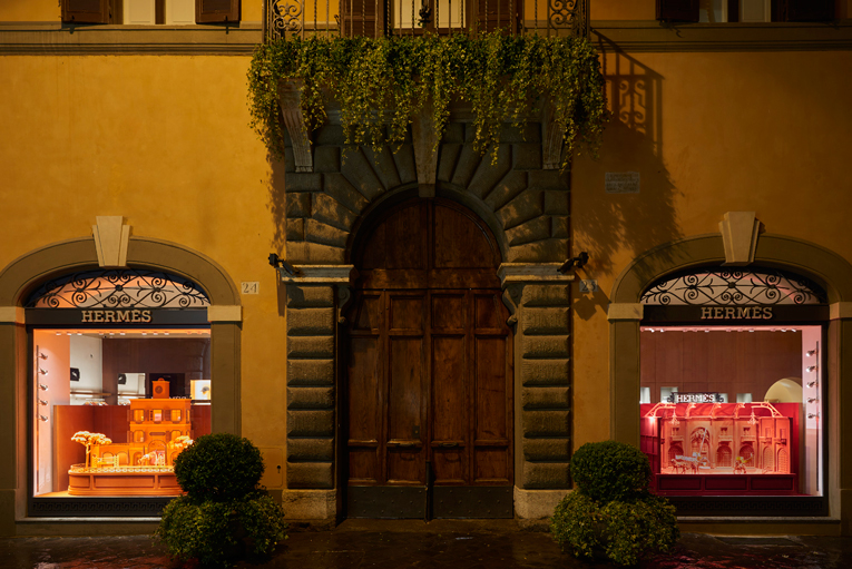 rome: hermès store opening