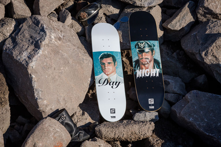 online: happy hour skateboards x tom of finland