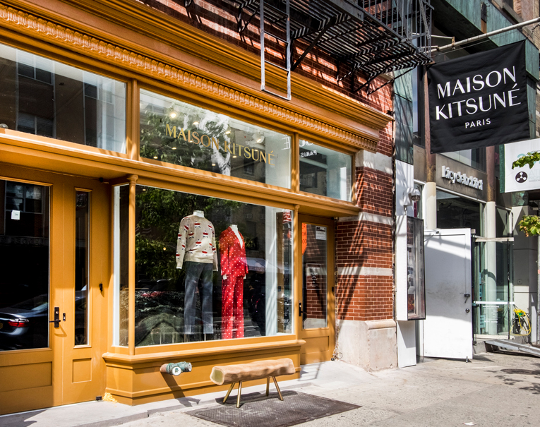 new york: maison kitsuné store relocation